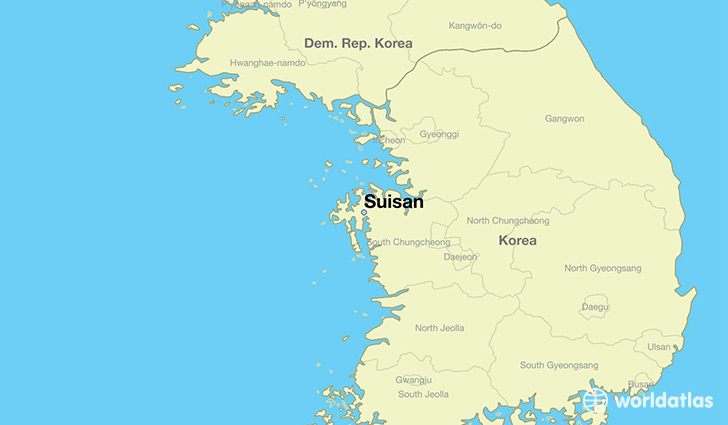 map showing the location of Suisan