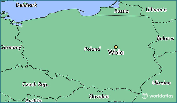 map showing the location of Wola