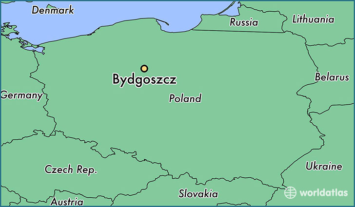 map showing the location of Bydgoszcz