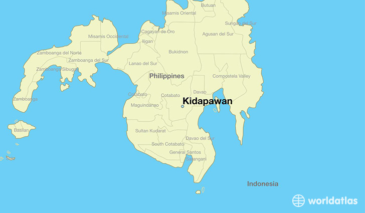 map showing the location of Kidapawan