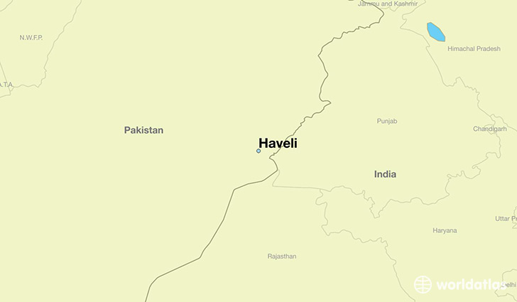 map showing the location of Haveli