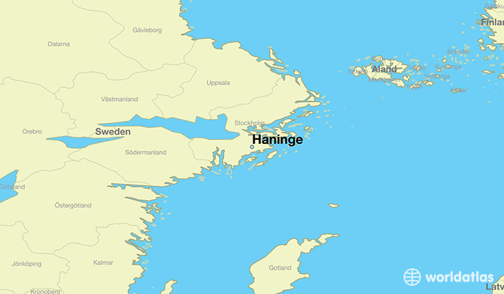 map showing the location of Haninge