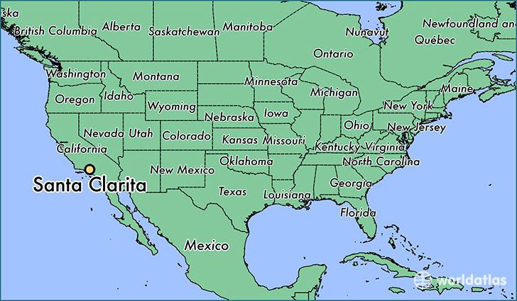 California Map Santa Clarita.Where Is Santa Clarita Ca Santa Clarita California Map
