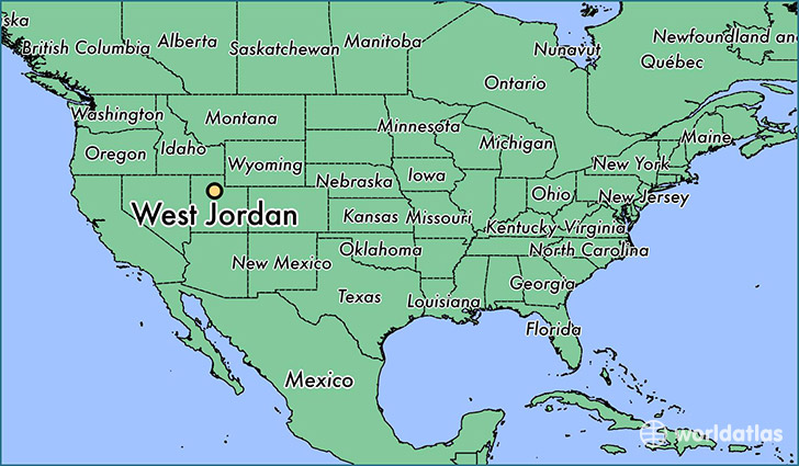 Where is west jordan ut west jordan utah map worldatlas map showing the location of west jordan gumiabroncs Images