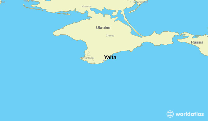 map showing the location of Yalta