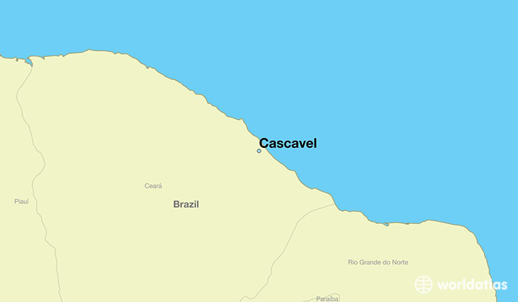 map showing the location of Cascavel