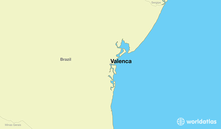 map showing the location of Valenca
