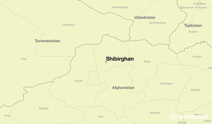 map showing the location of Shibirghan