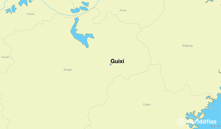 map showing the location of Guixi