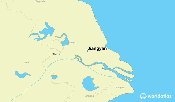map showing the location of Jiangyan