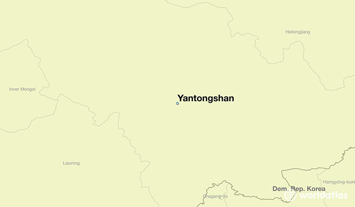 map showing the location of Yantongshan
