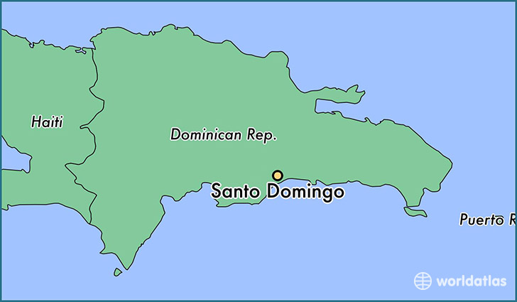 map showing the location of Santo Domingo