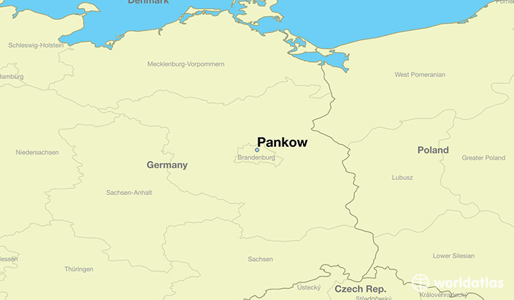 map showing the location of Pankow