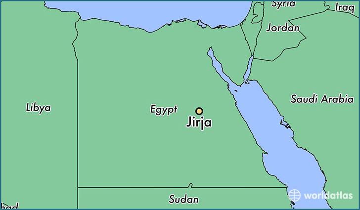 map showing the location of Jirja