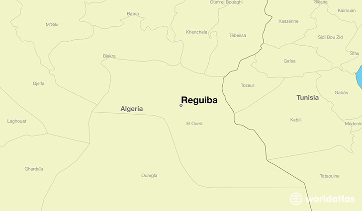 map showing the location of Reguiba