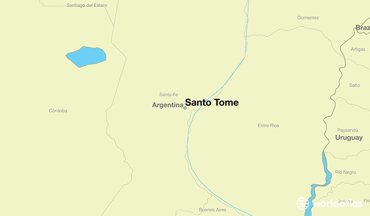 map showing the location of Santo Tome