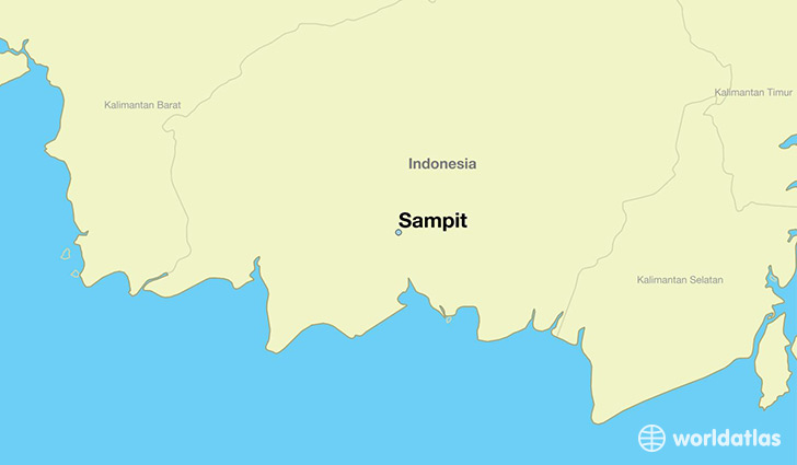 Where is sampit indonesia sampit central kalimantan map map showing the location of sampit gumiabroncs Image collections