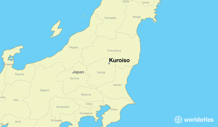 map showing the location of Kuroiso