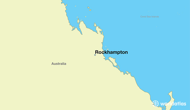 map showing the location of Rockhampton