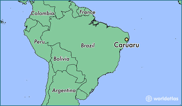 map showing the location of Caruaru