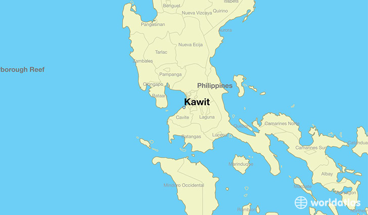map showing the location of Kawit