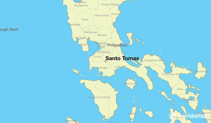 map showing the location of Santo Tomas