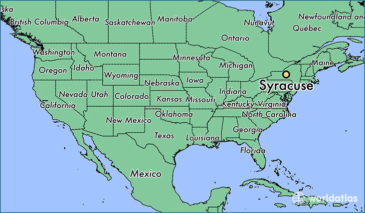 Where is Syracuse NY Syracuse New York Map WorldAtlascom