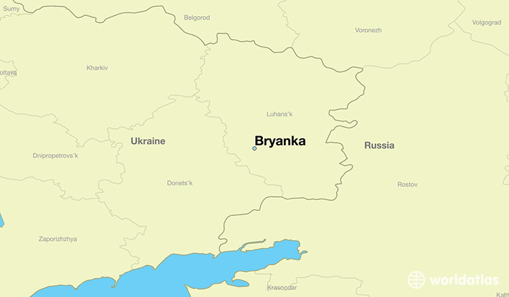 map showing the location of Bryanka