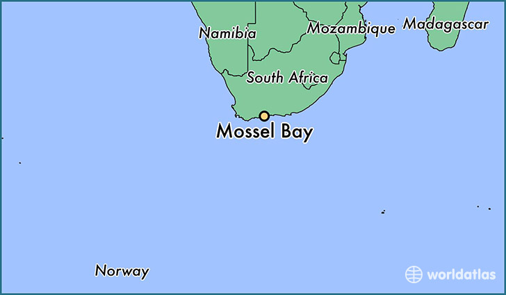 map showing the location of Mossel Bay