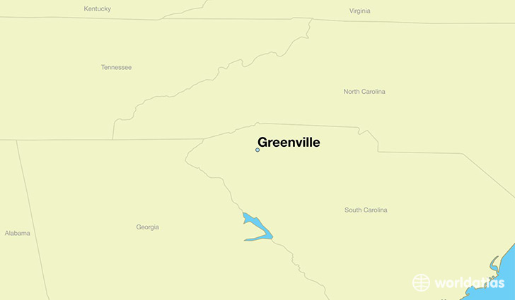Where is Greenville SC Greenville South Carolina Map