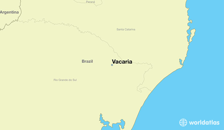 map showing the location of Vacaria