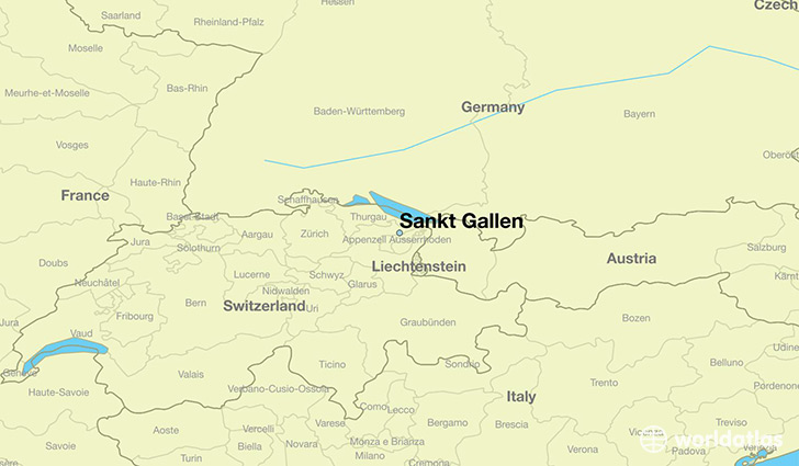 map showing the location of Sankt Gallen