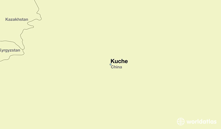 map showing the location of Kuche