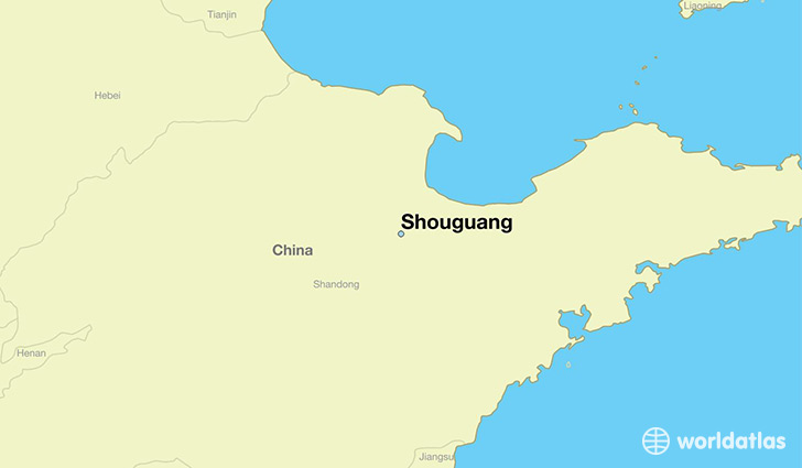 map showing the location of Shouguang