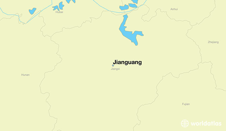 map showing the location of Jianguang