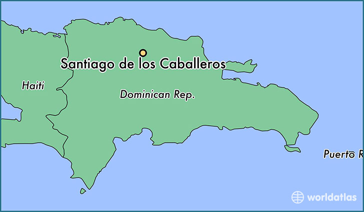 Where is Santiago de los Caballeros, The Dominican Republic ... on dominican republic map, juarez map, punta arenas map, lima map, san juan map, michoacan map, luanda map, chile map, kingston map, caracas map, kabul map, quito map, buenos aires map, bolivia map, andes map, santo domingo map, south america map, montevideo map, rio de janeiro map, torres del paine map,