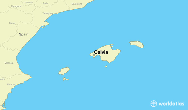 map showing the location of Calvia