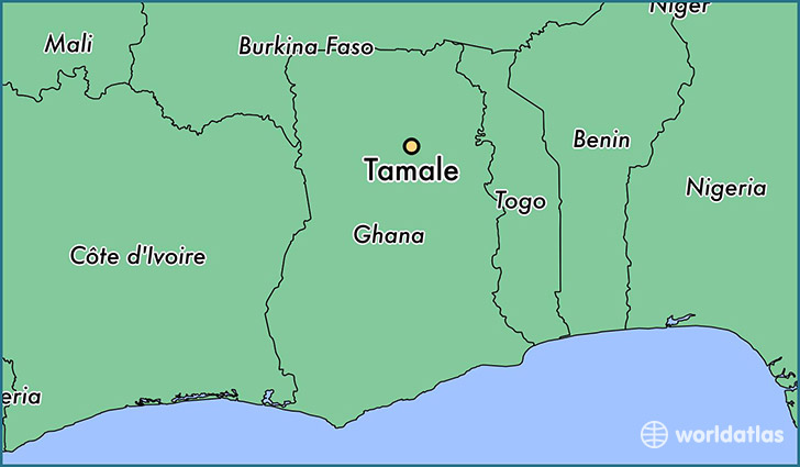 map showing the location of Tamale