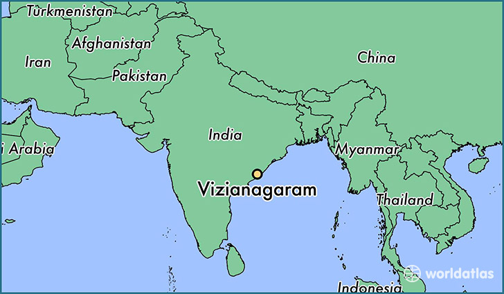 map showing the location of Vizianagaram