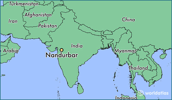 map showing the location of Nandurbar