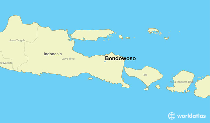 map showing the location of Bondowoso