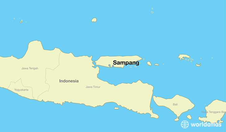 map showing the location of Sampang