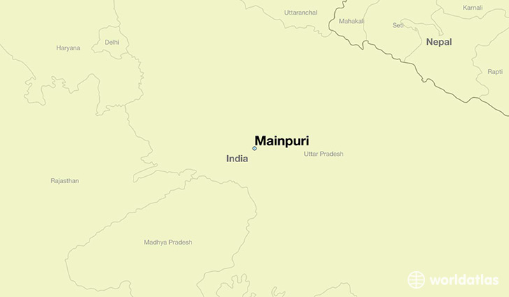 map showing the location of Mainpuri