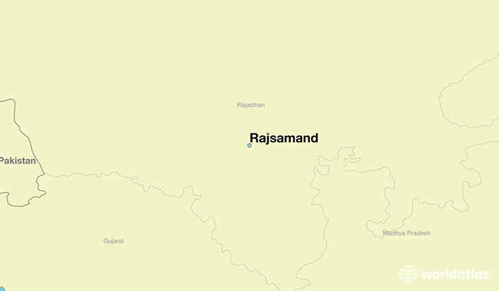 map showing the location of Rajsamand