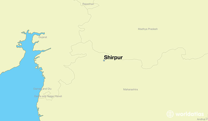 map showing the location of Shirpur