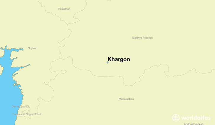 map showing the location of Khargon
