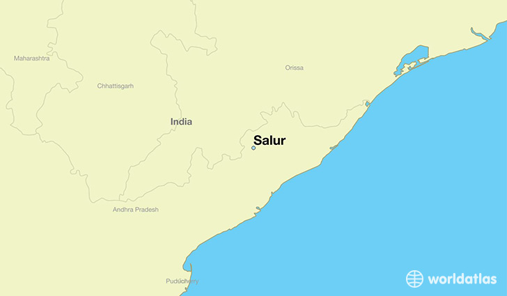 map showing the location of Salur