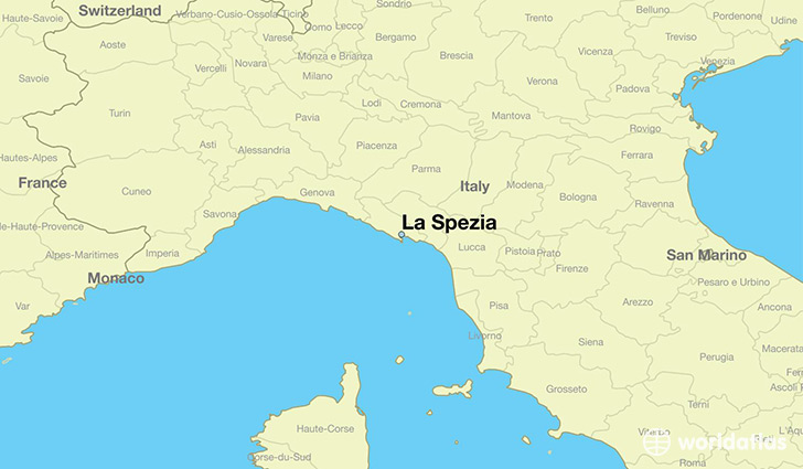 map showing the location of La Spezia