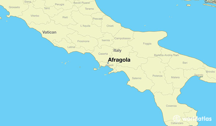 map showing the location of Afragola