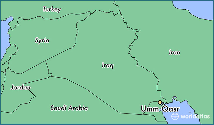 map showing the location of Umm Qasr